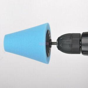 1x-Blue-Cone-Shaped-Polishing-Sponge-Tool-For-Automobile-Wheel-Hub