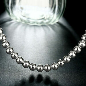925-Sterling-Silver-Plated-Necklace-Hollow-Beads-Balls-Necklace