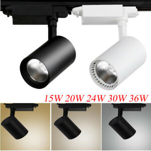 Details About 15w 20w 24w 30w 36w Cob Led Track Rail Ceiling Spotlight Downlight Lamp Lighting