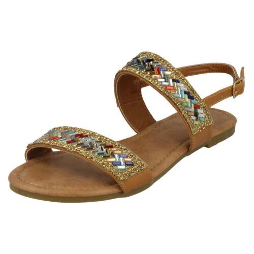 Ladies Anne Michelle Double Strap Mule Sandals F0R0058