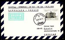 """Erstflug JAT """"Ljubljana - Berlin"""" JU 380 DC 9  26.06.1974 !!"""