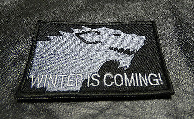 3.0 X 2.0 Game of Thrones House Stark Morale Hook Fastener Patch