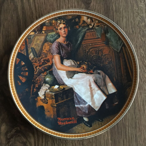 """Dreaming in the Attic"" Plate Norman Rockwell's Rediscovered Women"