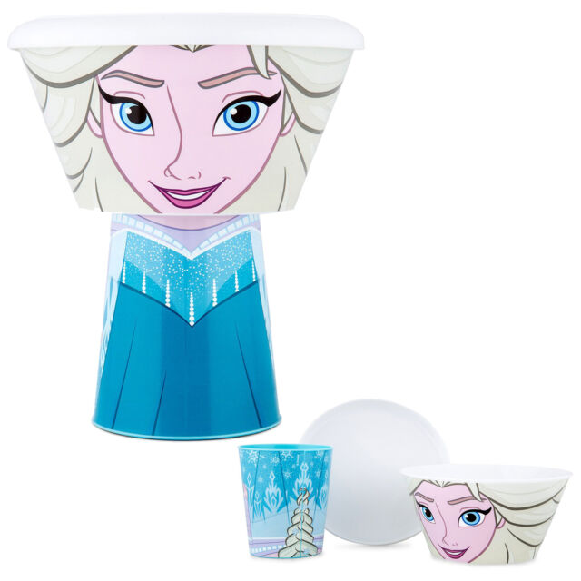 Disney / Character Kids 3 Piece Stacking Meal Set Cup Bowl Plate - Frozen Elsa