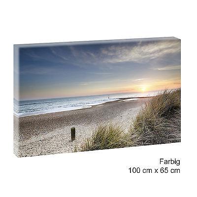 Sonnenuntergang Nordsee Bild Keilrahmen Poster Leinwand Wandbild100 cm*65 cm 500