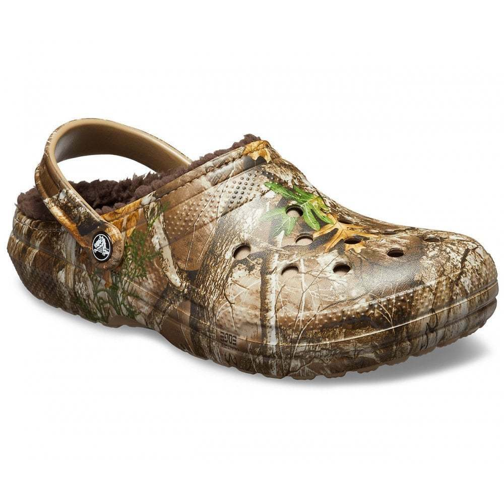 Crocs Classic Lined Realtree Edge Chocolate (Z12) 205377-280 Mens Clogs