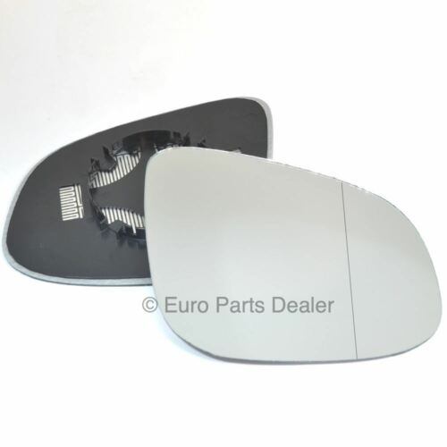 Driver side Clip Heated Wide Angle wing mirror glass for Renault Kangoo 14-16