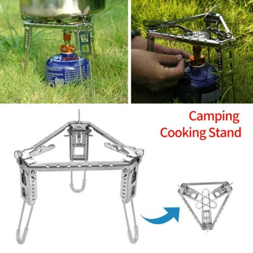 Outdoor Camping Stove Pot Stand Bracket Camping Cooking Foldable Tripod Gasshelf