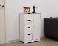 WestWood Bathroom Storage Cabinet Wooden 4 Drawer Cupboard Free Standing Unit