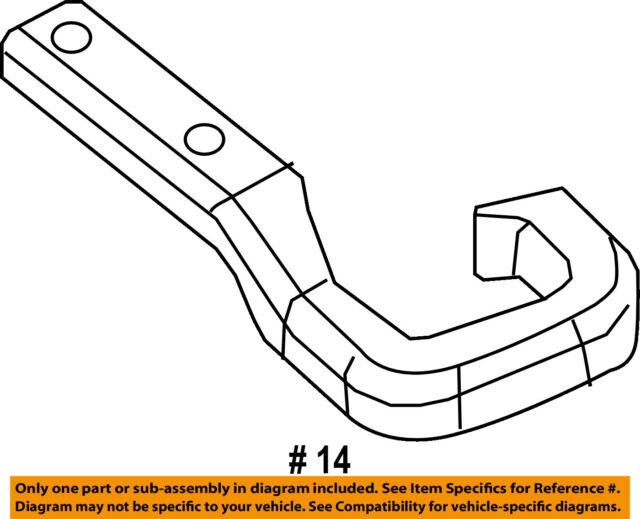 Jeep Chrysler Oem 2014 Cherokee Rear Bumper Tow Hook 68200497ab For