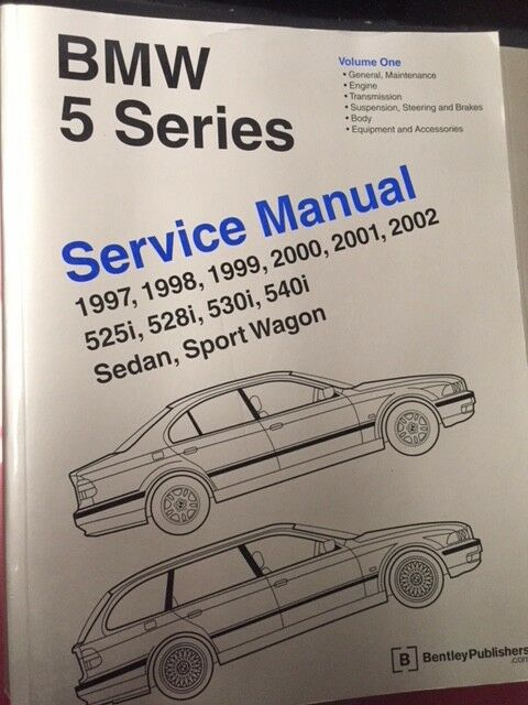 1997-2002  BMW 5 SERIES 525i,528i,530i,540i, Vol 1 & 2 Workshop Service Manuals