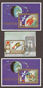 CHAD-3-Cuadernos-viejo-Sport-Bobsleigh-hockey-en-cristal-J-O-Sapporo-1972-BL