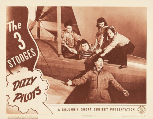 "The Three Stooges in Dizzy Pilots 14 x 11/"" Photo Print"