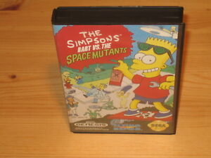 The Simpson's Bart vs Space Mutants Sega Genesis Case/Box Only NO GAME CARTRIDGE