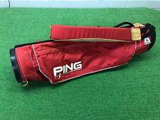 NICE Vintage PING GOLF Karsten RED Lightweight SUNDAY BAG Single Carry Strap