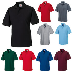 541e2db6 Image is loading RUSSELL-MENS-HARDWEARING-POLY-COTTON-PIQUE-POLO-SHIRT-