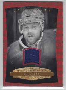 2014-15-UD-MASTERPIECE-PHIL-KESSEL-JERSEY-35-RED-FRAME-BW-BLACK-WHITE-157-GAME