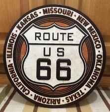ROUTE 66 US METAL ROAD HIGHWAY USA BAR WALL DECOR HISTORIC CALI KANSAS TEXAS