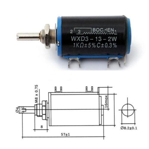 WXD3-13-2W 1K Ohm Potenciómetro rotativo multiespira Wirewound nuevo Reino Unido 1 un