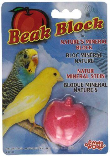 Hagen Living World Mineral Bird Beak Block Trimmer APPLE PEAR  or ORANGE