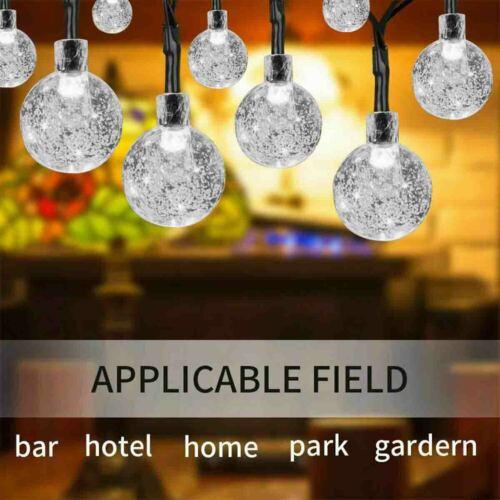 23FT 50 LED Solar Power Fairy Light String Lamp Party Deco Garden Outdoor Indoor