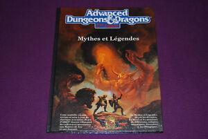Ad&d Dungeons & Dragons 2 Jdr Jeu De Role - Mythes Et Légendes