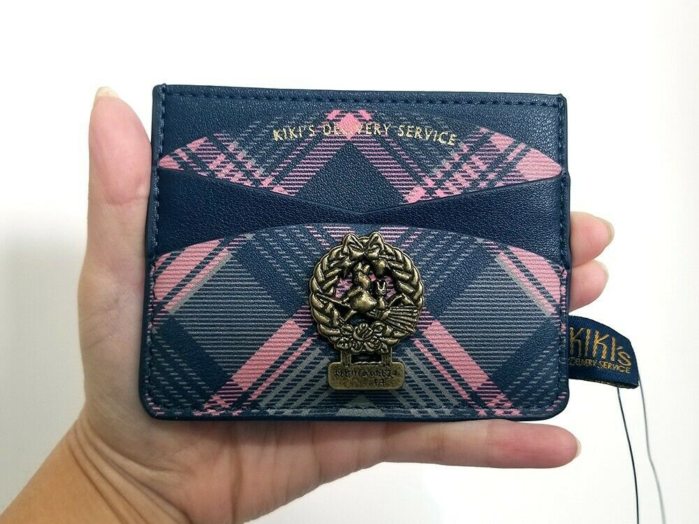 NEW Loungefly Kiki's Delivery Service Pink Plaid Cardholder