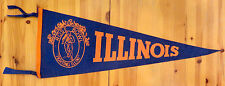 BEAUTIFUL! 1947 ROSE BOWL FOOTBALL FELT PENNANT-ILLINOIS/UCLA