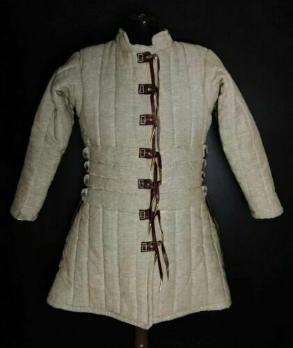 New Medieval Reenactment Gambeson White Color Theater Super Jacket New Look