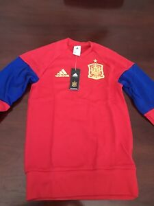 Details about Spain Soccer Jersey - Adidas - XS - Training Top - Sweat -  Red / Blue/ Yellow