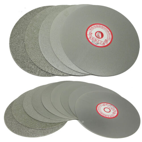 """Grit 80 Diamond Coated 8/"""" Inch Flat Lap roue lapidaire Affûtage Disque à polir ta"""