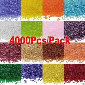 4000x 2mm czech glass seed spacer beads jewelry making diy pick 22 colors