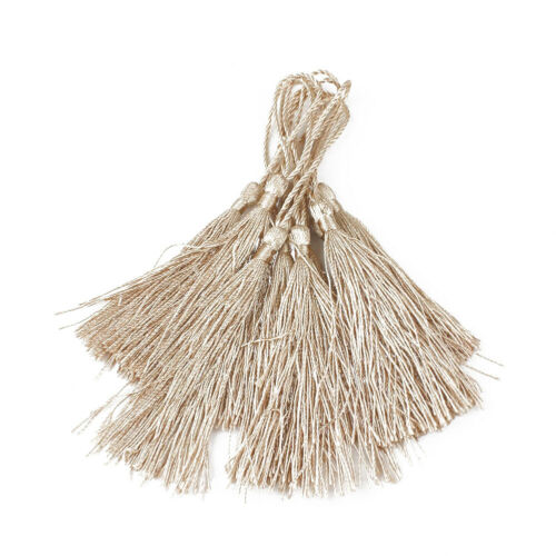 10pcs 13cm Tassels Earrings Silk Charm Pendant Cardmaking Bookmark Craft Decor N
