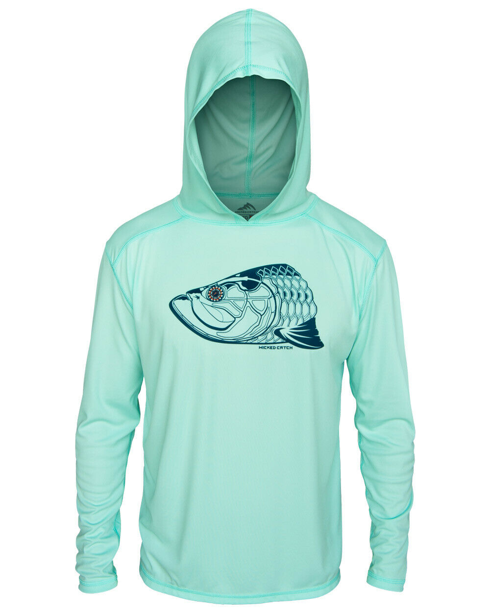 Wicked Catch Super Fly Tarpon UPF 50 Perforuomoce Hoodie pesca Shirt