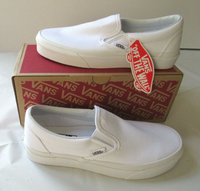 Vans Classic Slip-On - True White/White - Canvas Shoes - VN000EYEW00 - Men/Women