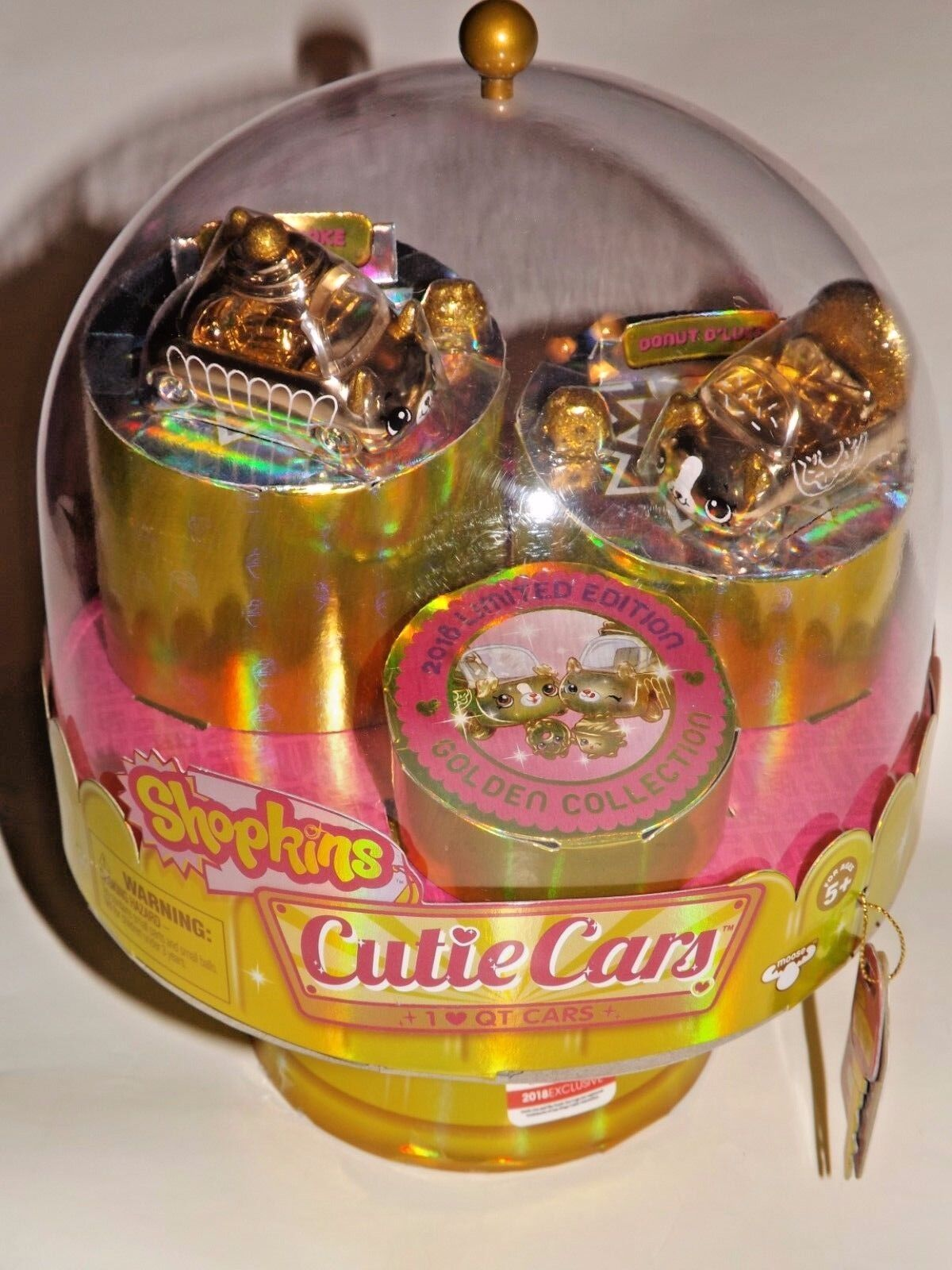 SDCC 2018 EXCLUSIVE UCC SHOPKINS CUTIE CARS IN gold FINISH OF 2000