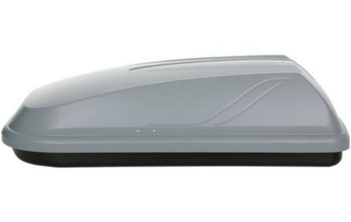Halfords ABS 250L Car Grey Roof Box 50kg Load Capacity Rear Side Opening
