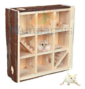 TRIXIE-DWARF-HAMSTER-MOUSE-CAGE-LARGE-PLAYING-TOWER-HOUSE-SEE-THROUGH-NEW-61709