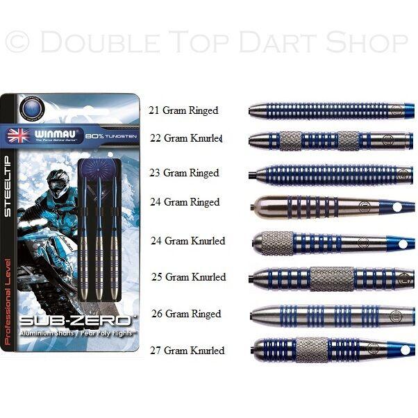 Winmau Sub Zero 80% Tungsten Steel Tip Darts
