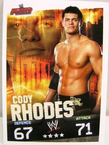 Slam attax evolution #071 Cody rhodes