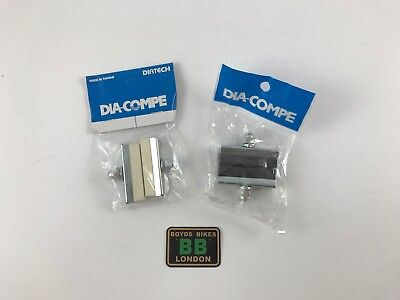 Old School BMX MX1000 MX900 Dia Compe CHROME Brake Pads 1 x PAIR WHITE BLACK