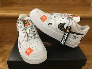 Details about Nike Air Force 1 One Low PRM Just Do It JDI White Black Men Sz 4Y 15 AR7719 100