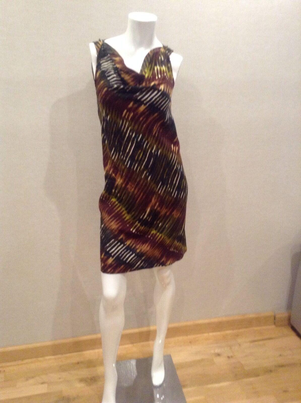 Rachel Roy Signature Size 2 Dress Multi NWOT Pattern Silk dress
