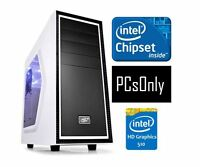 Intel Celeron 2.8ghz Processor, Intel 510 Hd Graphics With 4k Hdmi Gaming Pc