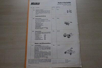 Prospekt 02/1973 AusgewäHltes Material 163632 Preise & Extras Hako Variette