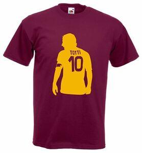 PréVenant T-shirt Totti Roma Capitano Francesco Totti Maglia Leggenda Calcio Uomo Bambino Ventes De L'Assurance Qualité