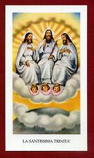 SANTINO LA SANTISSIMA TRINITA'    IMAGE PIEUSE - HOLY CARD-  Heiligenbild