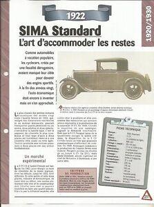 FICHE AUTOMOBILE - LA SIMA STANDARD 1922 2iTMGMfh-09153248-419450514