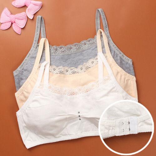 Young girls baby lace bras underwear vest sport wireless training puberty bZ0HW