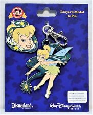 Disney Sassy Tinkerbell Smiling Lanyard Medal & Pin Combo Set BRAND NEW CUTE